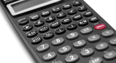 numpad: Closeup of the numpad of a scientific calculator