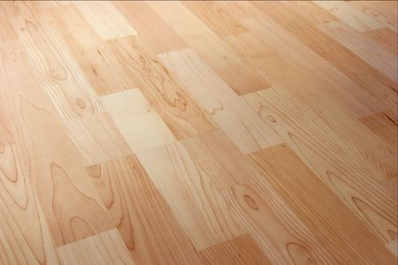Closeup of bright parquetry texture, angled view Stock Photo