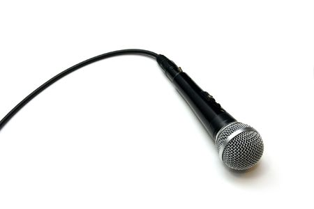 Closeup of a dynamic microphone isolated on white Stock Photo - 870914