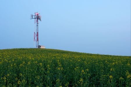 gsm: Gsm transmitter station on an agricultural field