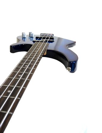 Céoseup of an electric bass isolated on white Stock Photo - 895201