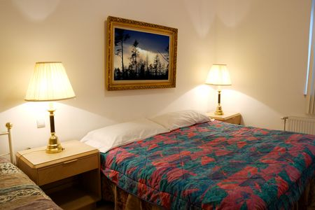 Bedroom (the picture on the wall is my own photo) Stock Photo - 905813