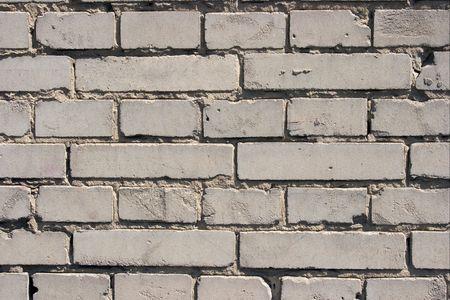 Grungy texture of a gray brick wall photo
