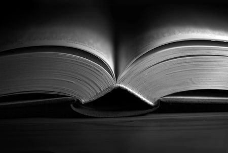 Open book isolated on black Stock Photo - 1164418
