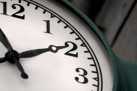 analogue: Detail of an analogue clock