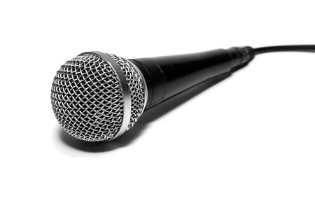 Dynamic microphone isolated on white Stock Photo - 1164535