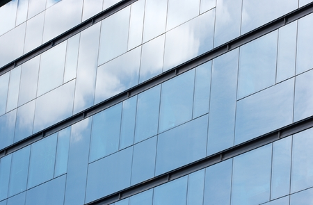coporate: Glass panels of a modern office building Stock Photo