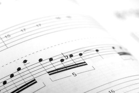 sheetmusic: Closeup of a piece of sheet music