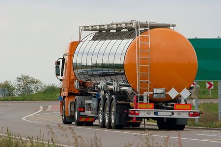 Oil transporting lorry on the road Stock Photo - 1778896