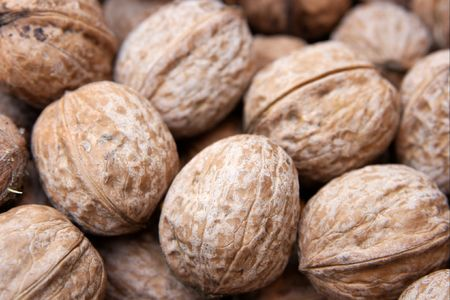 dozen: Closeup of a pile of nuts