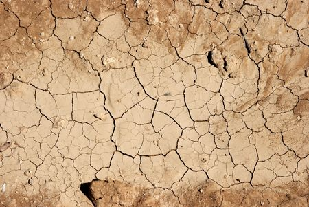 barrenness: Texture of dried out soil Stock Photo