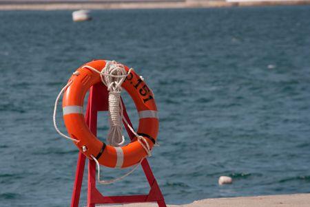 Life guard swimming belt at the seaside photo