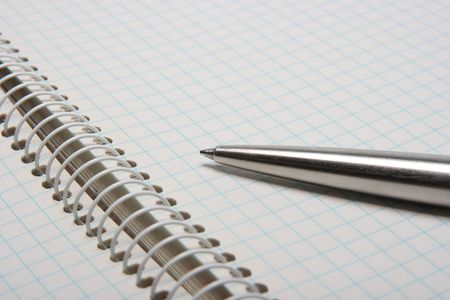 Open notebook with a pen on it Stock Photo - 1884349