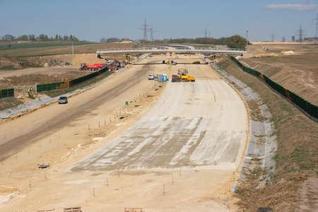 infraestructura: La construcci�n de carreteras sitio desde arriba