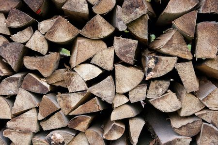 Closeup of any logs piled up photo