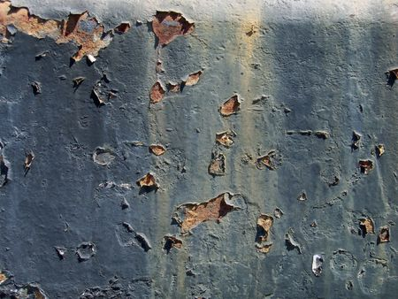Old rusty metal texture with dark paintwork falling apart Stock Photo - 2133423