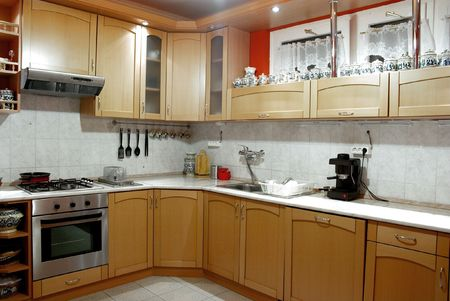 well equipped: Interior shot of a modern well equipped kitchen