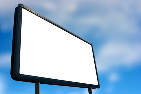 Empty advertisement board, add your own tex! Stock Photo - 2330106