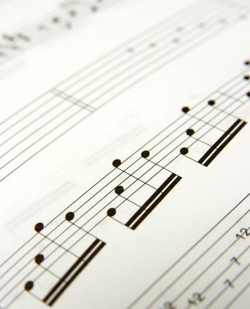 music score: Closeup of simple music score