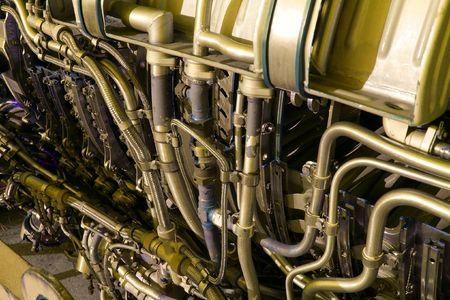 jetplane: Parti e dettagli di un motore  Archivio Fotografico