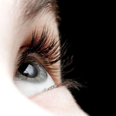 Closeup of the eye of a girl Banco de Imagens