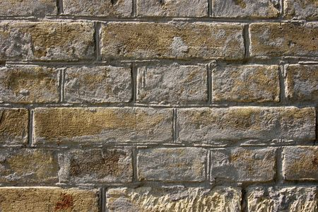 Simple brick wall with rough texture photo