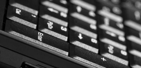 numpad: Numpad part of the keyboard of a laptop Stock Photo