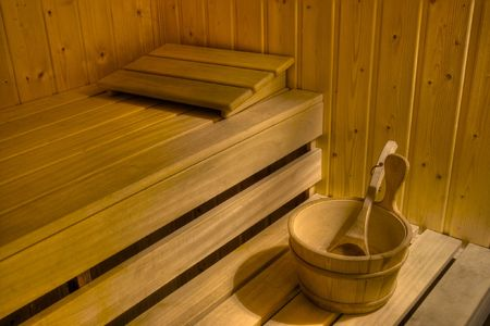 Interior of a sauna photo