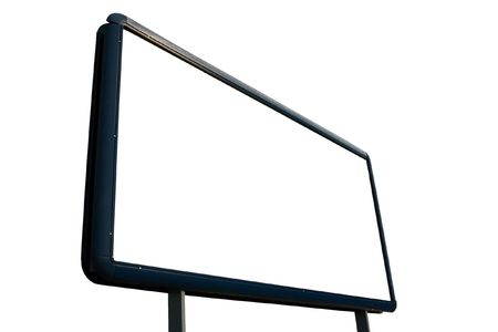 blank canvas: Empty advertisement board isolated on white