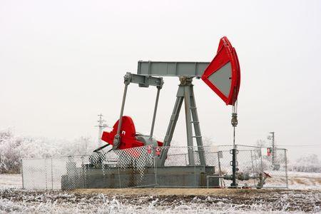 propellant: Oil well on a winter landscape