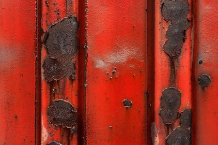 Red, rusty metal surface Stock Photo - 2678024