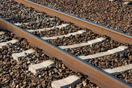 Closeup of railway tracks Stock Photo - 2678016