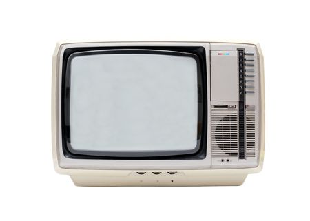 crt: Vintage TV isolated on white background