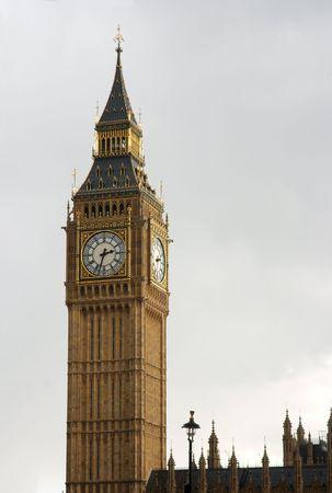 clocktower: Big Ben, clocktower of the English Parliament Stock Photo