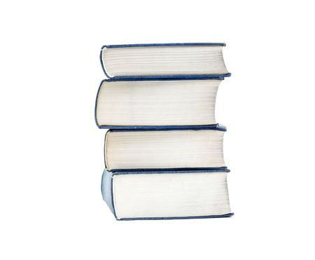 Pile of thick books isolated on white Stock Photo - 3065125