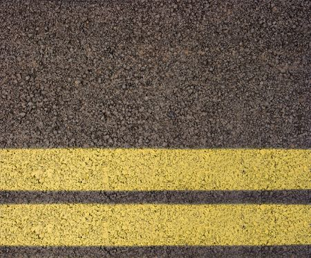 Asphalt with double yellow line photo