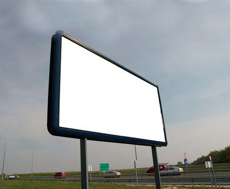 Blank advertisement board on the roadside Stock Photo - 3065073