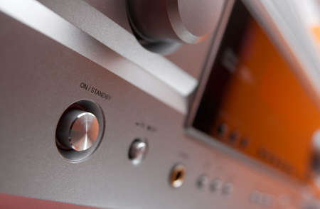 master volume: Onoff switch of a hifi amplifier, shallow DoF