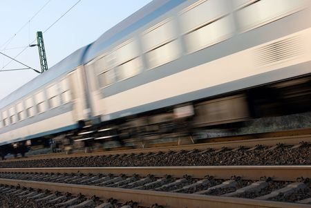 Train passing by with motion blur photo