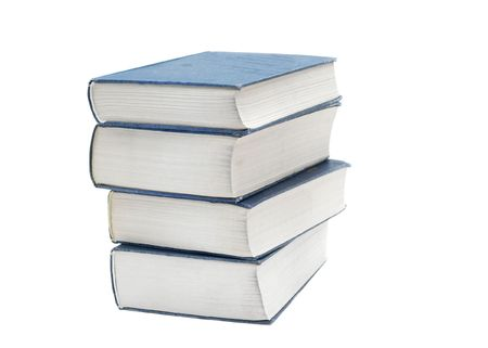Pile of thick books isolated on white Stock Photo - 3123032