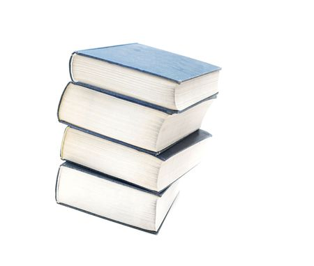 A pile of thick books isolated on white Stock Photo - 3555451