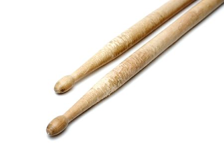 A pair of drumsticks isolated on white Stock Photo - 3555411