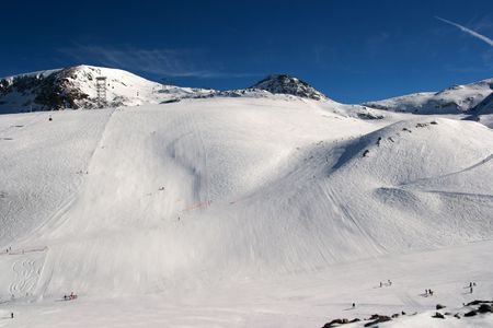 Ski resort in the high mountains Stock Photo - 3555453