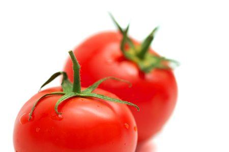 Tomatos isolated on white background Stock Photo - 3555495