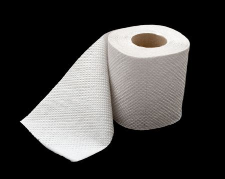 A roll of toilet paper isolated on black Stock Photo - 3555485