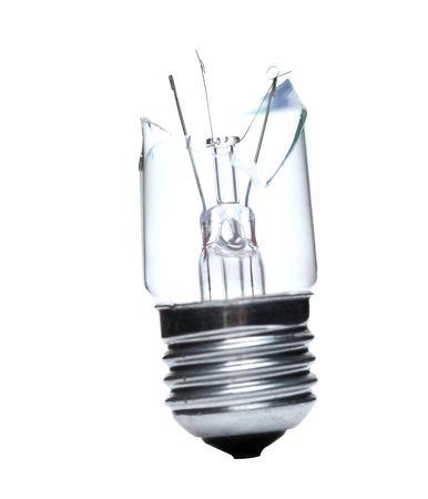 Broken lightbulb isolated on white Stock Photo - 3603419