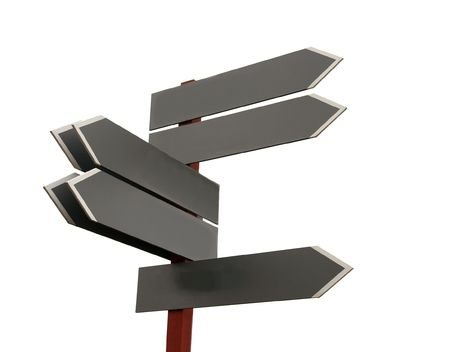 Empty signpost pointing in various directions Stock Photo - 3603287