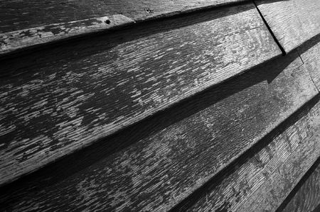 Old wood texture in black and white photo