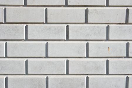 Wall with smooth white bricks photo