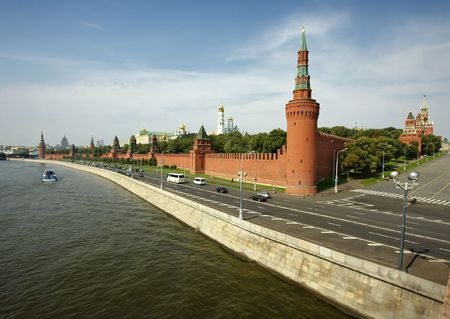 kreml: Kremlin walls in the center of Moscow